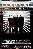 Coldplay Póster gigante de concierto Giant Concertoster Twisted Logic Tour 2005 120 x 80 cm