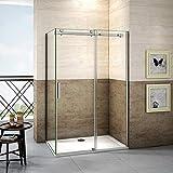 120x80x195cm Mamparas de ducha cabina de ducha 8mm vidrio templado de Aica...