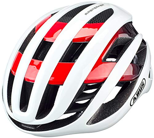 ABUS AIRBREAKER Road Helm, Unisex Adulto, White Red, L