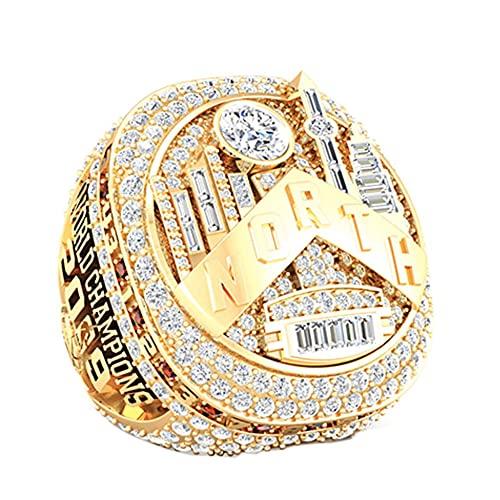 TYTY NBA Basketball 2019 Toronto Raptors Championship Ring Hombre, Championship réplica Personalizado Anillos de Diamantes para Hombres,Without Box,10#