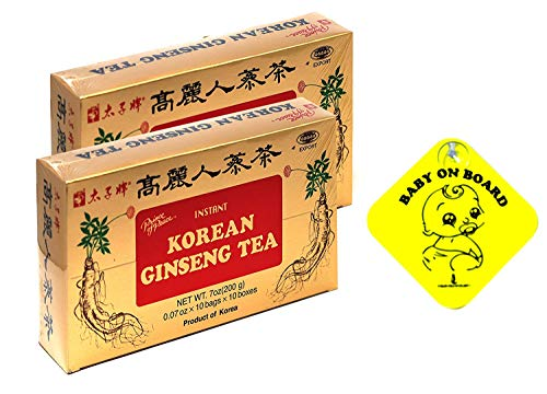 Prince of Peace Korean Ginseng Tea(instant) 0.07 Oz X 10 Bags X 10 Boxes (2)