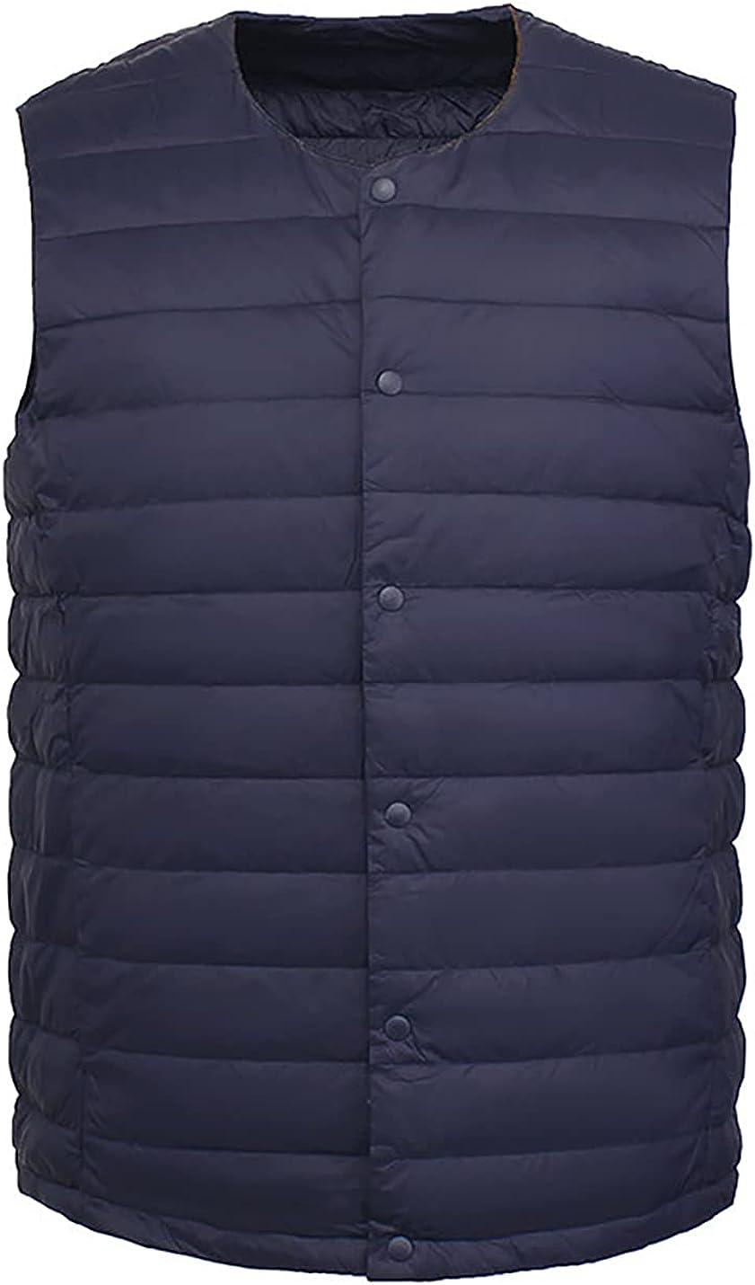PEHMEA Men's Water-Resistant Packable Puffer Vest Lightweight Sleeveless Quilted Winter Jackets Gilet