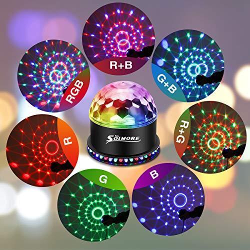 LED Discokugel,SOLMORE 51LEDs 12W Discolampe Partyleuchte RGB Lichteffekt Bühnenbeleuchtung Party Licht Weihnachten Deko - 2
