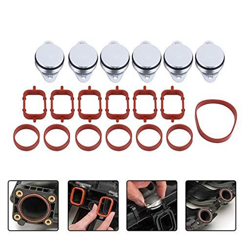 Swirl Flap, 6 X 33mm Diesel Swirl Flap Blanks Bungs Intake Gaskets Kit for 320d 330d 520d 525d 530d 730d