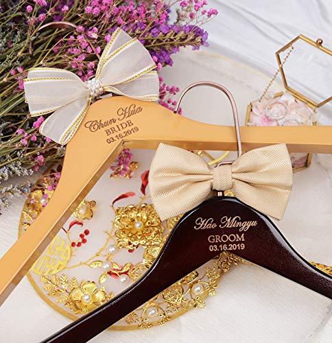 cailla - Enlace Personalizado para Percha de Novia, Regalo de Ducha Grabado para Fiesta de Novia