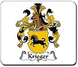 Krieger Family Crest Coat of Arms Mouse Pad