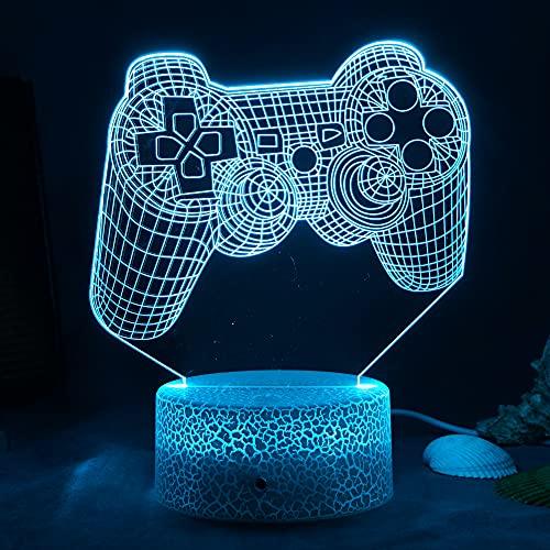 ZWOOS Lampara Gaming - Gaming Luz con Control Remoto - 16 colores - 4 modos de iluminación - Gamer Decoracion (Model C)