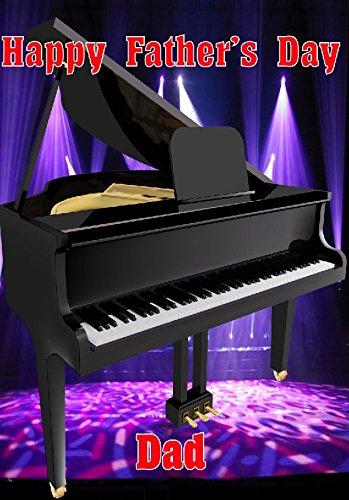 Grand Piano nfd95 Fun Happy Father's Day kaart A5 Gepersonaliseerde wenskaarten geplaatst door ons geschenken voor alle 2016 van DERBYSHIRE UK