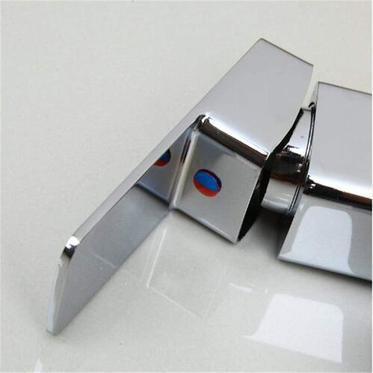 Oudan Bathroom Basin Faucet Kitchen Faucet Hot and Cold Taps Crossbathroom Faucet Basin Sink Tap Hot and Cold Water Mixer Tap Deck Mounted Bathroom Faucet Without The Hose (color   -, Size   -)