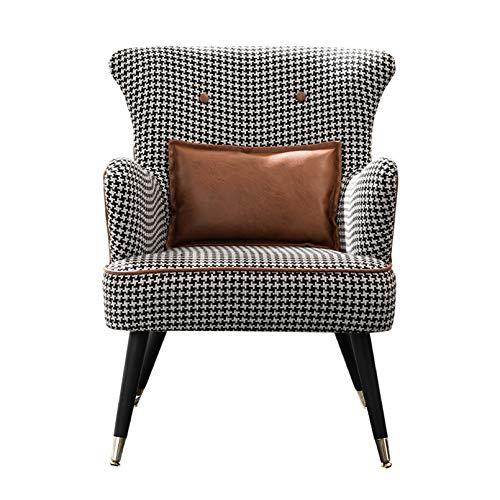 Creator-Z Ohrensessel Retro Lounge Sessel Skandinavisch Lesesessel Mit Armlehnen, Sitzhöhe 44 cm,Braun