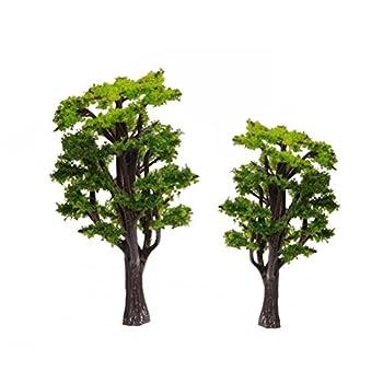 WINOMO 12pcs Model Trees Train Railways Architecture Landscape Scenery Scale 1 50  Green