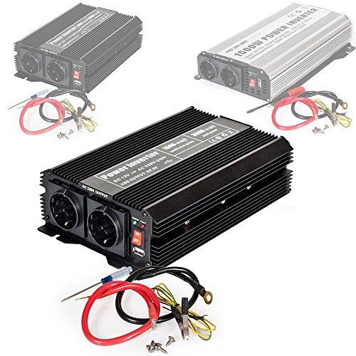 tectake Convertisseur de Tension Sinus modifiée Power Inverter 12V en 220V - diverses modèles au...