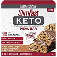 5-Count SlimFast Keto Meal Replacement Bar