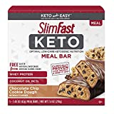 SlimFast Keto Meal Replacement Bar - Chocolate Chip Cookie Dough - 5 Count - Pantry Friendly