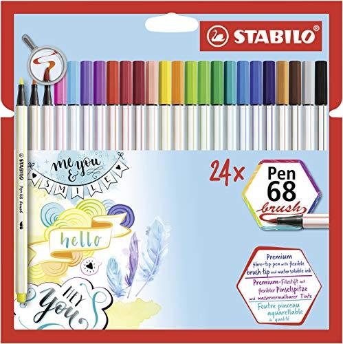 Rotulador punta de pincel STABILO Pen 68 brush - Estuche con