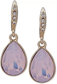 Givenchy Crystal and Stone Medium Drop Earrings pink