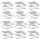 Bright Creations Metal Candle Tins with Lids, Square Containers for DIY (3.5 x 3.5 in, 12 Pack)