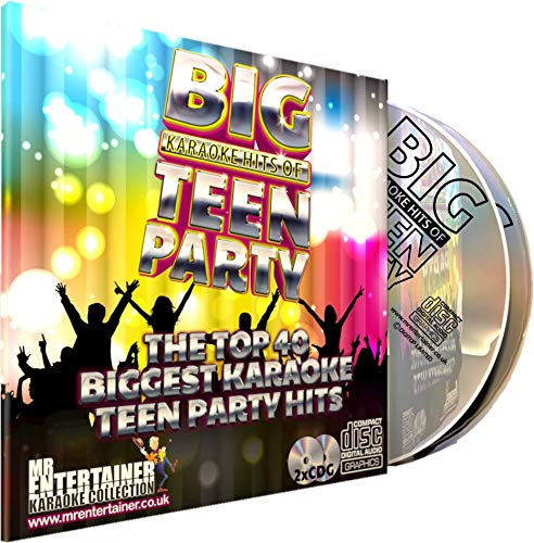 Mr Entertainer Big Karaoke Hits of Teen Party - Double CD+G (CDG) Pack. 40 Greatest Teenager Party Songs. Kinder und Jugendparty