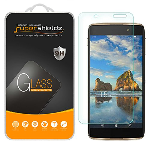(3 Pack) Supershieldz for Alcatel Idol 4S Tempered Glass Screen Protector, Anti Scratch, Bubble Free