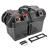 Akozon - Conector de caja de batería de plástico Minnkota para motor de pesca de arrastre, USB, 12 V