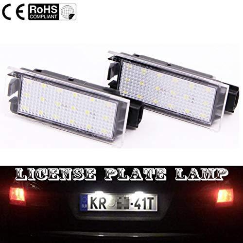 VAWAR TOP LED Kennzeichenbeleuchtung, Nummernschilder 6000K Weiss, CE, fehlerfrei für Megane/Clio/Kadjar/Laguna/Trafic/Twingo/Citan/Smart 453 + Brabus