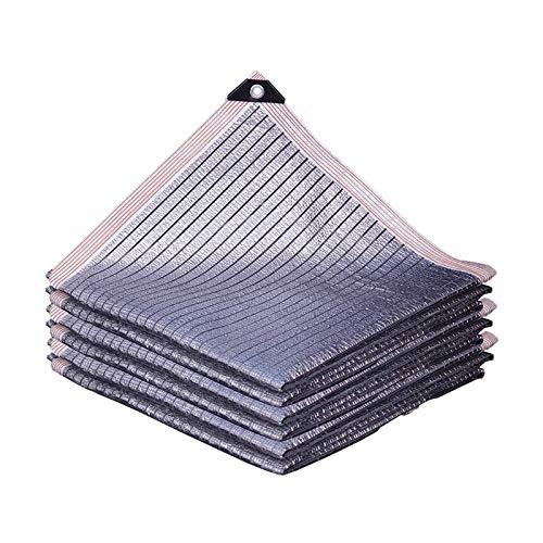 ZZYE Malla Sombreo Papel de Aluminio Sombra Sombrilla Sombra Sombra Sombra Shade Sails 75% Sombrilla Solar Paño de la Pantalla, Sombra de jardín Red Habitación Solar Balcón Flowers Patio Sombreado al