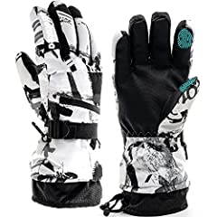 ❄🏂2019 UPGRADED SAFER DESIGN: Each ski glove has waterproof zipper pocket. Snow gloves with emergency contact card make your outdoor sport activities safer, and the pocket can carry keys, cards or other little things. Reflecting logo has the warning ...