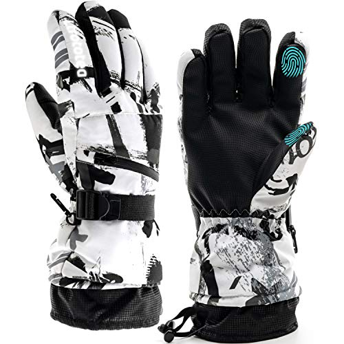 Ski Gloves, Snow Winter Gloves Warm Touchscreen Gloves Waterproof Outdoor Motorcycle Gloves (Medium)