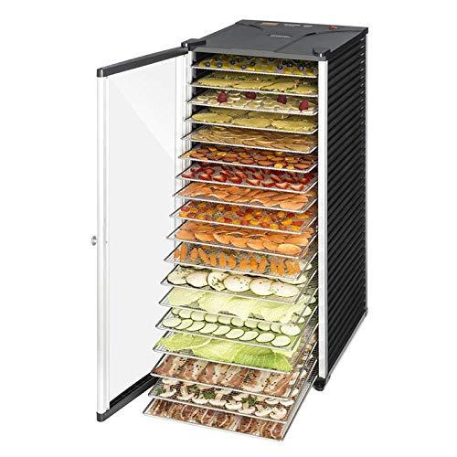 Klarstein Fruit Jerky 18 Deshidratadora - Desecadora, Secadora de Fruta y Carne, 18 Pisos, 1000 W, Circulación de Aire,...