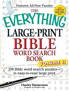 The Everything Large-Print Bible Word Search Book, Volume Ii: 150 Bible Word Search Puzzles In Easy-To-Read Large Print