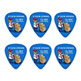 Trump Offended Help You Pack Republican Funny Novelty Guitar Picks Medium Gauge - Set of 6