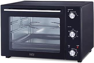 Four multifonction 58L chaleur tournante tournebroche grill 2000W ARIZONA noir 5 programmes de cuisson avec minuterie et a...