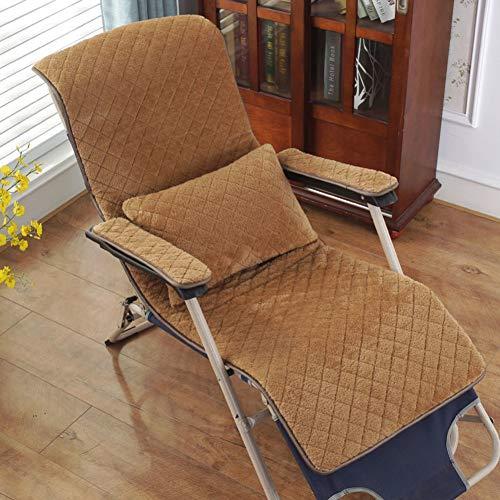 TPJJ Transpirable No-Slip Garden Chair Cushion,Cubierta Portátil del Asiento del Relajante Al Aire Libre,Almohadilla De Asiento Oscilante Lavable B 49x130cm (19x51inch)