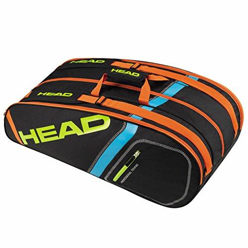 HEAD Unisex– Erwachsene Elite 9R Supercombi Tennistasche, Black/red