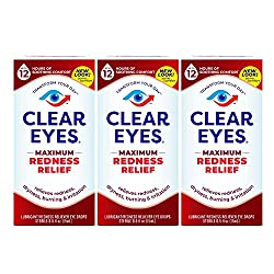 commercial Clear Eyes   Eye Drops for Maximum Redness Relief   0.5 fl oz (3 packs) bright eye drop