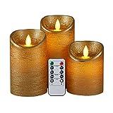 Monland 3Pcs/Set LED Flameless...