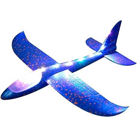 Einsgut lettiera glitter LED illumina bambini aeroplano giocattolo lettiera esterna aliante aereo giocattolo inizia a mano modello di aereo