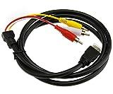 CABLE CONVERTISSEUR HDMI VERS 3 RCA AV mâle Vidéo/Audio composant Câble adaptateur pour HDTV 1080P