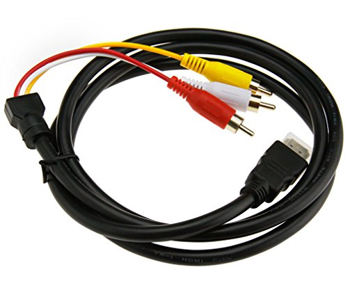 HDMI auf 3 RCA AV Audio Video Cinch Kabel 1,5m HDTV 1080P Signalübertragung