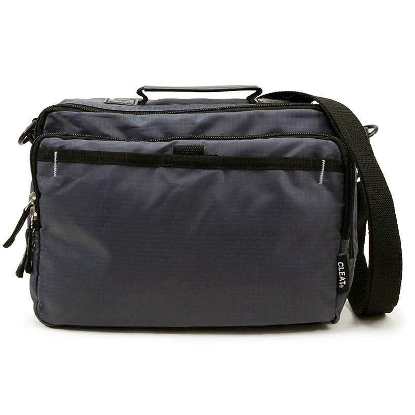 面白い橋階層(Marib select) 撥水加工 ショルダーバッグ 軽量 ビジネス メンズバッグ 軽くて丈夫な素材 仕事 業務 集金 宅配 メンズ ユニセックス 鞄 ミニバッグ リップストップナイロン #c334