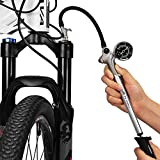 GIYO High Pressure Shock Pump, (300 PSI Max) for Fork & Rear Suspension, Lever Lock on Nozzle No Air...