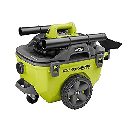 Ryobi 18-Volt ONE+ 6 Gal. Cordless Wet/Dry Vacuum (Bare-Tool) with Hose, Crevice Tool, Floor Nozzle and Extension Wand