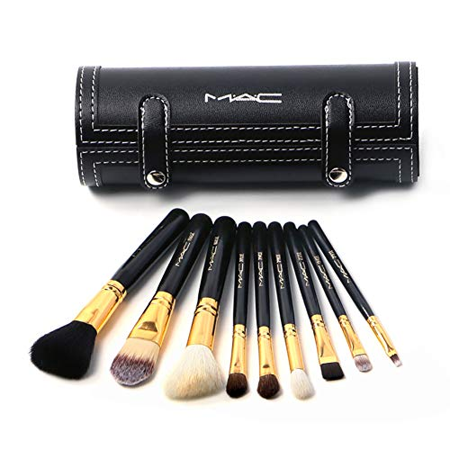 Make-Up Pinsel Set Flaschen 9 Kosmetik Beauty Tools Full Portable (Schwarz)
