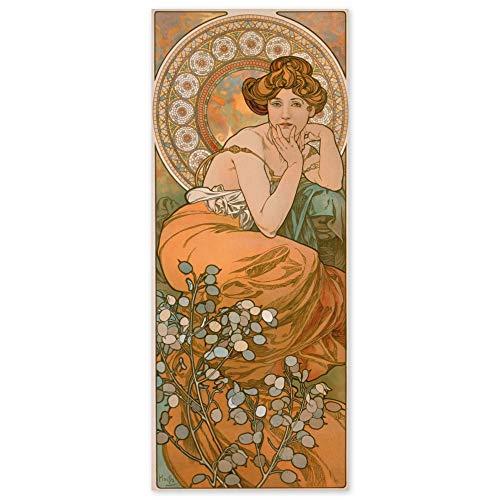 JUNIWORDS Poster, Alfons Maria Mucha, Edelsteine, Topas, 40 x 97 cm