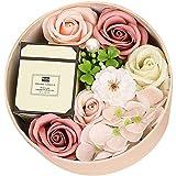 ZHANG Velas Perfumadas con Tarjetas de Felicitación y Rosas Inmortales Utilizadas para Decoraciones de Hogar y Oficina,Pink