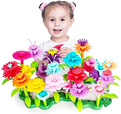Toys for 3 Year Old Girls Kids Garden Toys Baby Flower Garden Building Toys Gifts for 2 3 4 5 6 Year Old Girls Floral Arrangement Playset 109 PCS