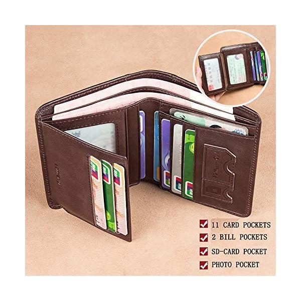 Wallet for Men Mens Leather Wallet Slim Front Pocket Wallet Billfold RFID Blocking BANYANU 2