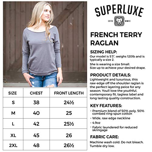 Superluxe Clothing Womens Be Yourself Be A Mermaid French Terry 3/4 Sleeve T-Shirt, Heather Grey, XX-Large