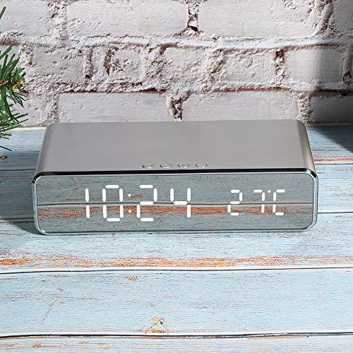 FEBT Reloj electrónico, Reloj de cabecera, Hotel inalámbrico del Dormitorio del Cargador para la Sala de Estar de la Oficina