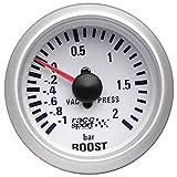 Sumex Gaug701 - Manómetro Presión TurboRace Sport, Diámetro 52 mm, 12V
